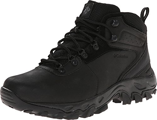 Columbia Men's Newton Ridge Plus II Waterproof Hiking Boot, Black/Black, 10.5 D US