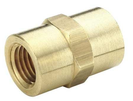 Parker Hannifin 207P-12 Brass Coupling Pipe Fitting, 3/4'' Female Thread x 3/4'' Female Thread