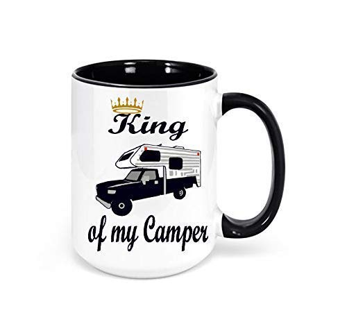 King of my Camper Truck Camper Mug, Camping Coffee Mug, RV Decor