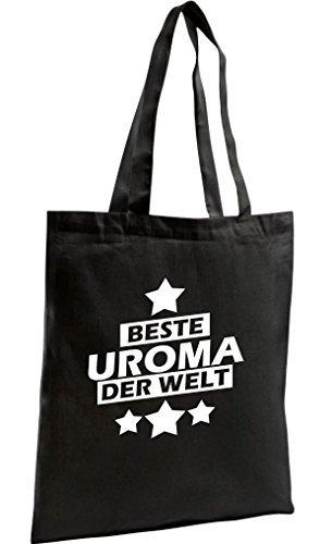 Shirtstown Bolso De Compras Orgánico Zen, Shopper mejor Grande-abuela der Welt Negro