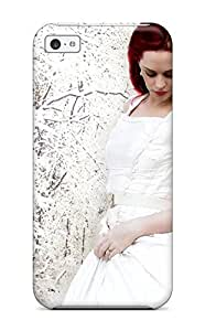 Fashion CyYduHV1801HARrd Case Cover For Iphone 5c(red Haired Pretty Girl)