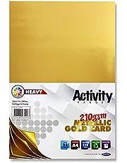 Premier Stationery A4 210 gsm Activiteitskaart - Goud (25 stuks bladen)