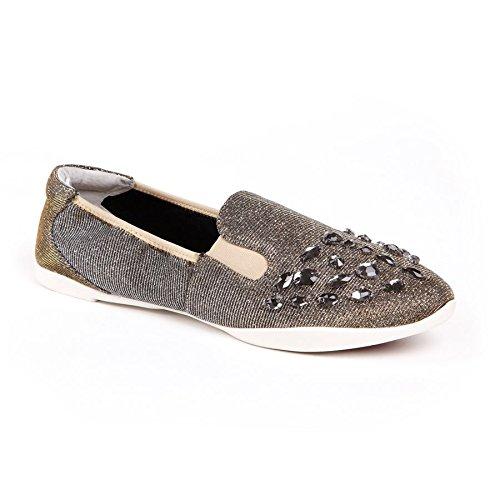 Cocorose Foldable Shoes - Carnaby Ladies Espadrilles Desert Gold E3QhK