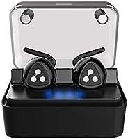 Auriculares Audifonos Bluetooth Estéreo, D900 mini Auriculares Inalámbrico deportivos in ear Bluetooth 4.2 Manos libres con Micrófono con Caja de Carga Inteligente para iPhone y otros Smart Phones-Negro