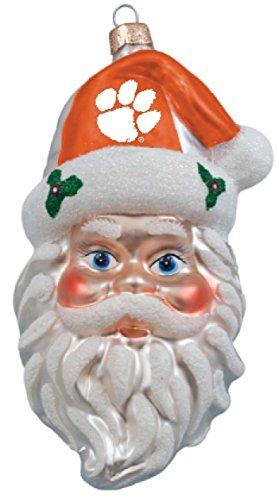 NCAA Clemson Tigers Santa Head Ornament