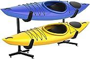RaxGo Freestanding Kayak Storage Rack, Heavy Duty Storage for Two-Kayak, SUP, Canoe & Paddleboard for Indo