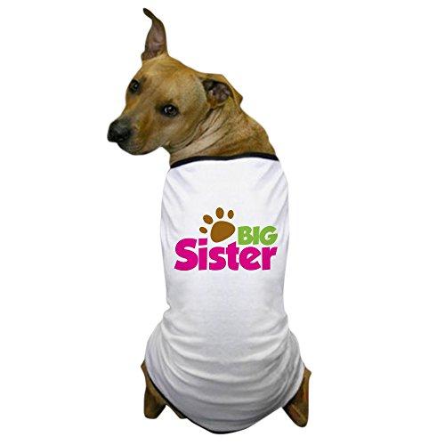 CafePress - Paw Print Dog Big Sister - Dog T-Shirt, Pet Clothing, Funny Dog Costume (T-shirts Personalized Dog)