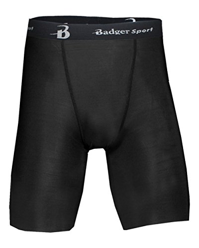 "Badger Sport Black Adult Small Moisture Management 8"" Inseam Compression Shorts"