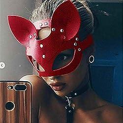 fumak Masquerade Mask - Máscara Sexy para Mujer, Media Cara, Ojos Cosplay, Cara de Gato, Piel Cosplay para Adultos, Mascarada, Carnaval, máscaras de Disfraces
