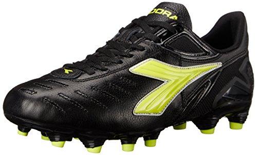 Diadora Women's Maracana L W Soccer Shoe, Black/Yellow, 7 M US