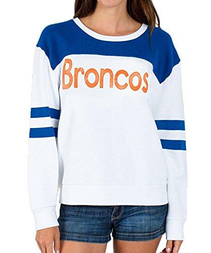 Junk Food NFL Denver Broncos Football Juniors Pull Over Fleece Sweatshirt (Juniors X-Large)
