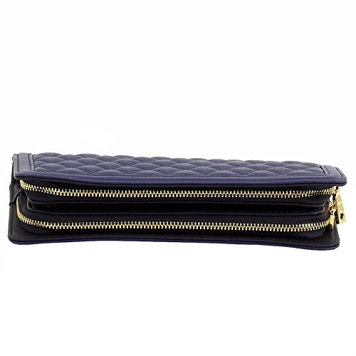 Love Moschino Women's Blue Quilted Leather Clutch Shoulder Handbag by Love Moschino (Image #4)