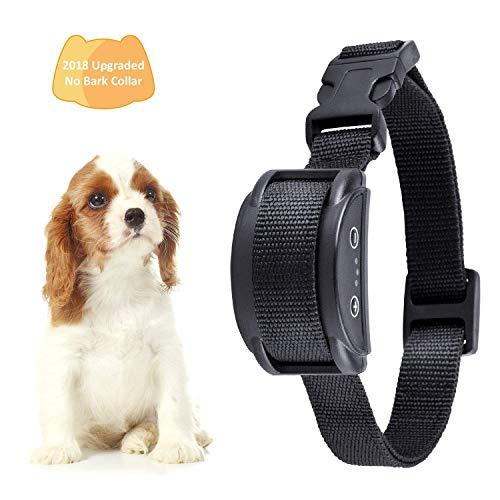 Cheap Bark Collar [2018 Smart Chip] Dog Shock Anti-Barking Collar with Beep, Vibration and Harmless Shock. No Bark Control for Small/Medium/Large Dogs with 7 Sensitivity Levels, Rechargeable and Rainproo