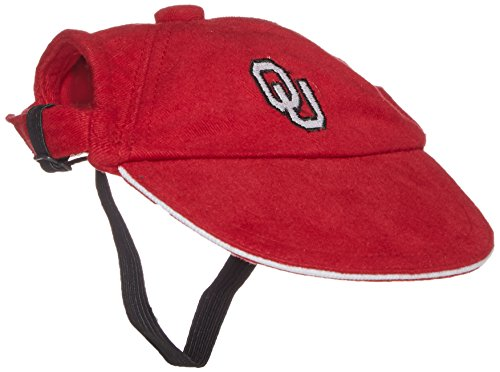 Oklahoma Dog Pet Football Jersey (Sporty K9 Collegiate Oklahoma Sooners Dog Cap, Medium)
