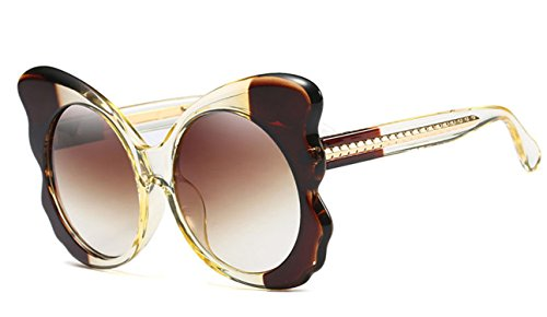Elegant Sunglasses Women Summer Accessories Large Size Sun Glasses Female Large ()