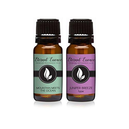 Pair (2) - Mountain Meets The Ocean & Juniper Breeze - Premium Fragrance Oil Pair - 10ml - Ocean Breeze Fragrance