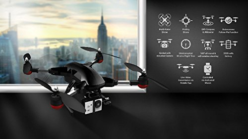 41LS-Xui9WL Hawk4k Folding Drone With 4k Camera and Watch Controller