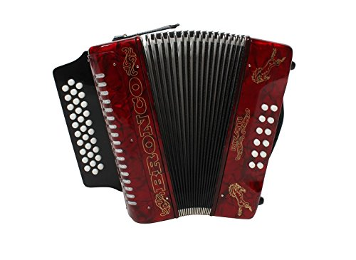 Rizatti Bronco RB31GR Diatonic Accordion - Red - Key G/C/F by RIZATTI