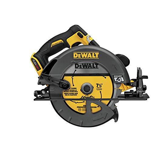 DEWALT DCS575T2 FLEXVOLT 60V MAX Brushless Circular Saw with Brake and 2 Battery Kit, 7-1/4'