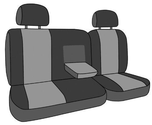 CalTrend Rear Row 40/60 Split Bench Custom Fit Seat Cover for Select Kia Optima Models - NeoSupreme (Red Insert and Black Trim)