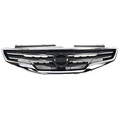 - Elite7 Grille Assembly CHROME Shell w/Black Insert Replacement for Nissan Altima 10-12 SEDAN NI1200236