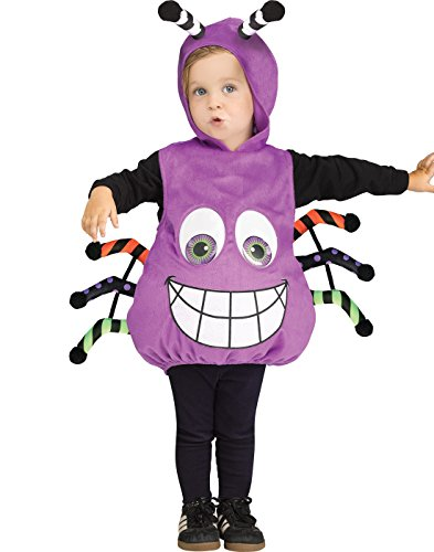 Fun World Googly Eye Spider Tunic Toddler Costume, Multicolor, One Size ()