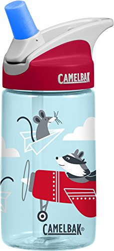 CamelBak Eddy Kids Water Bottle, Airplane Bandits, .4 L