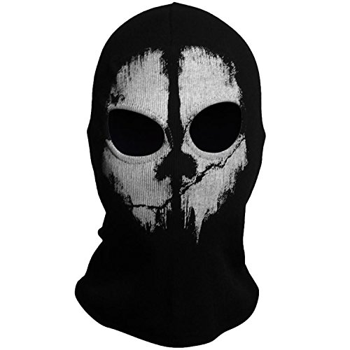 Cod Ghost Costume (ABLIBI Men's Costume Mask Ghost Balaclava Skull Face Mask War Game CS Cosplay Mask (COD 4))
