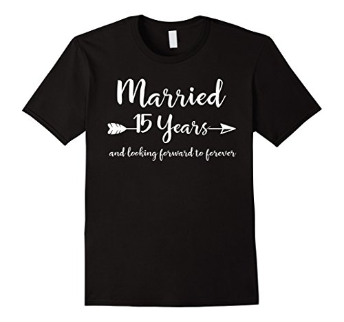 15th Wedding Anniversary Gift T-Shirt for Him Her Couples