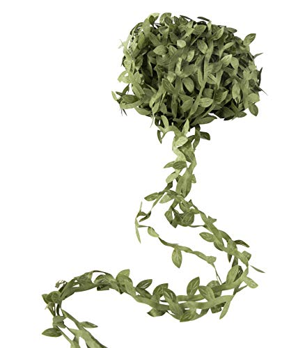 Juvale Artificial Hanging Vine - Fake Silk Greenery Garlands, Simulation Foliage Green Leaves for Wreath, Wedding Party, Home Decoration, 150 Feet