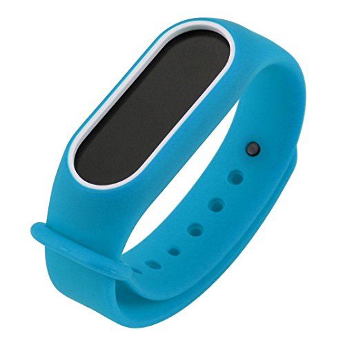 Price comparison product image Alonea Replacement Silica Gel Wristband Band Strap For Xiaomi Mi Band 2 Bracelet (Blue)