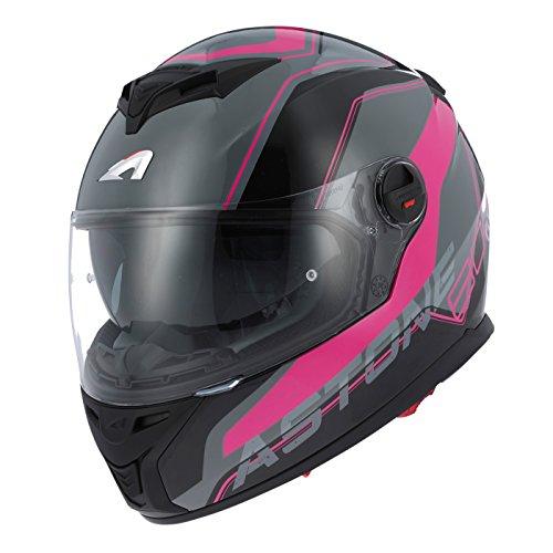Amazon.es: Astone Helmets GT800 WIRE - Casco integral para moto, modelo GT 800, en color negro y rosa