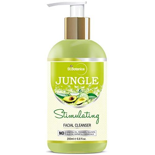 Sage Jungle (St.Botanica Jungle Stimulating Facial Cleanser (Stimulating Face Wash with Avocado, Aloe Vera, Clary Sage, Cucumber) 200ml)