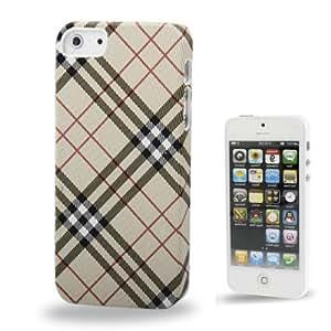 """Iphone 5/5S : plástico caso protector de la cubierta """" cuadrícula de color caqui """""""