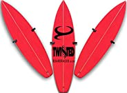 Short Board Surfboard Wall Racks Vertical or Angled Storage Solid Eco-Teak Wood Fin Out or in Fin Out or in