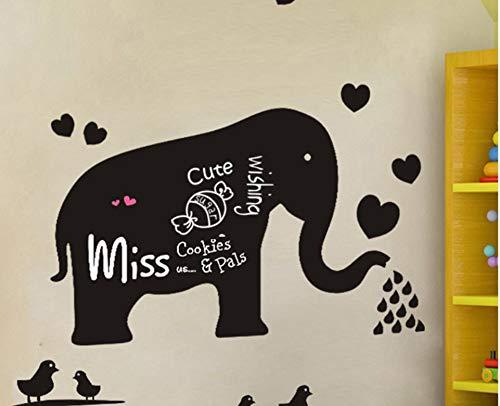 CFLEGEND Elefante Pizarra Etiqueta 50X70 Cm Pegatinas De Pared ...