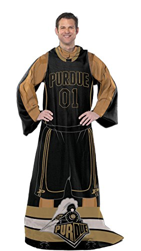 Officially Licensed NCAA Purdue Boilermakers Full Body Player Adult Comfy Throw Blanket, 48