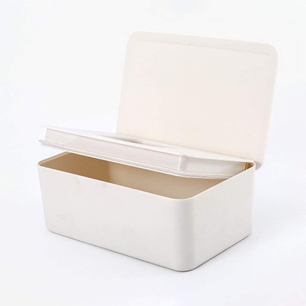 Deendeng Wet Wipes Dispenser Holder Tissue Storage Box Case with Lid for Home Stores