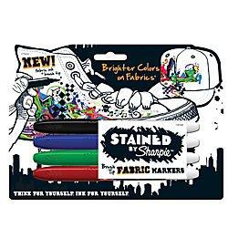 Sharpie Sharpie STAINED Permanent Fabric Markers, Brush P...