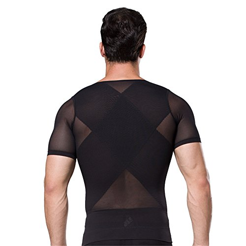 d0a89ad86 Hanerdun Mens Slimming Body Shaper With Zipper Compression Shirt Slim  Shapewear - Buy Online in Oman.