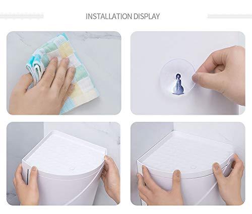 RENYAYA Badezimmer 360 /° Rotierenden Dreieck Regal K/üche Toilette Regal Ecke Regal Badezimmer Lagerregal Schrank Multilayer Lagerregal,Gray