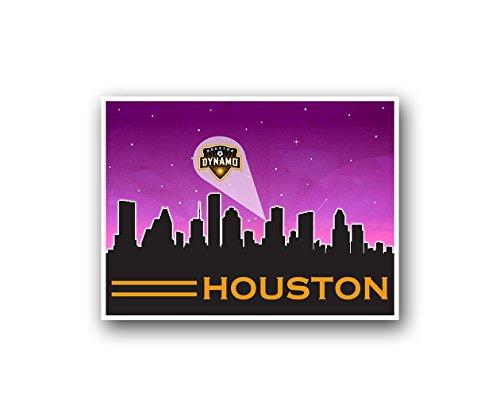 ATLAS Houston Dynamo Poster Sports Art City Skyline Print Man Cave Decor 12x16