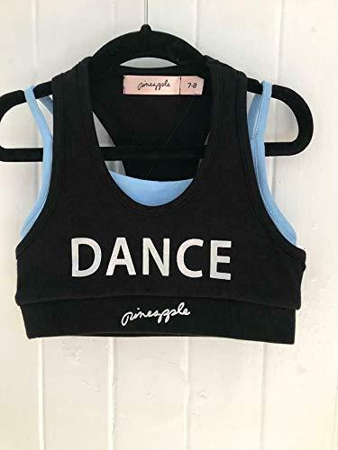 Pineapple DANCEWEAR Girls Racerback Double Crop Top Hot Pink//Black Dance Gym