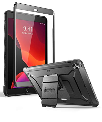 SUPCASE Designed for iPad 10.2 2019 Case, [Unicorn Beetle Pro Series] with Built-in Screen Protector and Dual Layer Full Body Rugged Protective Case for iPad 10.2 Inch 2019, iPad 7th Generation(black) from SupCase
