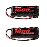 Venom 6v 1600mAh 5-Cell Flat Receiver NiMH Battery x2 Packs