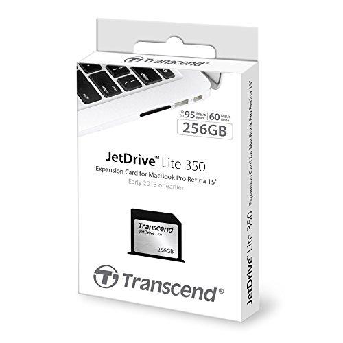 Transcend 256GB JetDrive Lite 350 Storage Expansion Card for 15-Inch MacBook Pro with Retina Display (TS256GJDL350) by Transcend (Image #3)