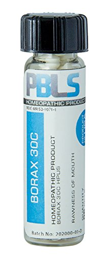 Borax 30C, 96 Pellets, Homeopathic Product by Paramesh Banerji Life Sciences, Made in ()