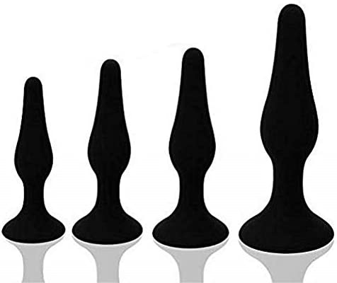 FEHFJAD-2LKM Set of 4 Black Silicone Toy Used for Male and Women for Playing