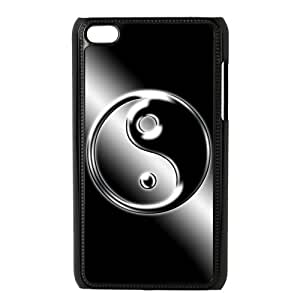 Luckhappy store funny Ying Yang Black Plastic case - fits IPod Touch 4th