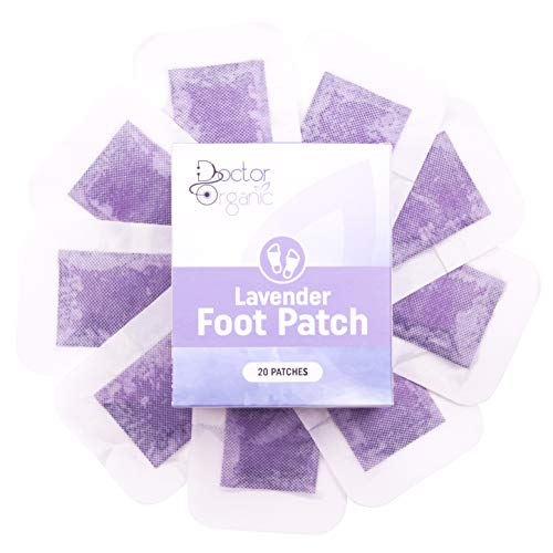 Foot Pads by Doctor Organic – Woven Cloth Patches with All-Natural Premium Bamboo Vinegar – Relaxing Lavender Aromatherapy Scent (Set of 20)